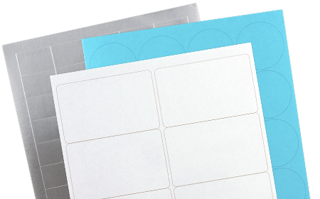 blank sheet labels