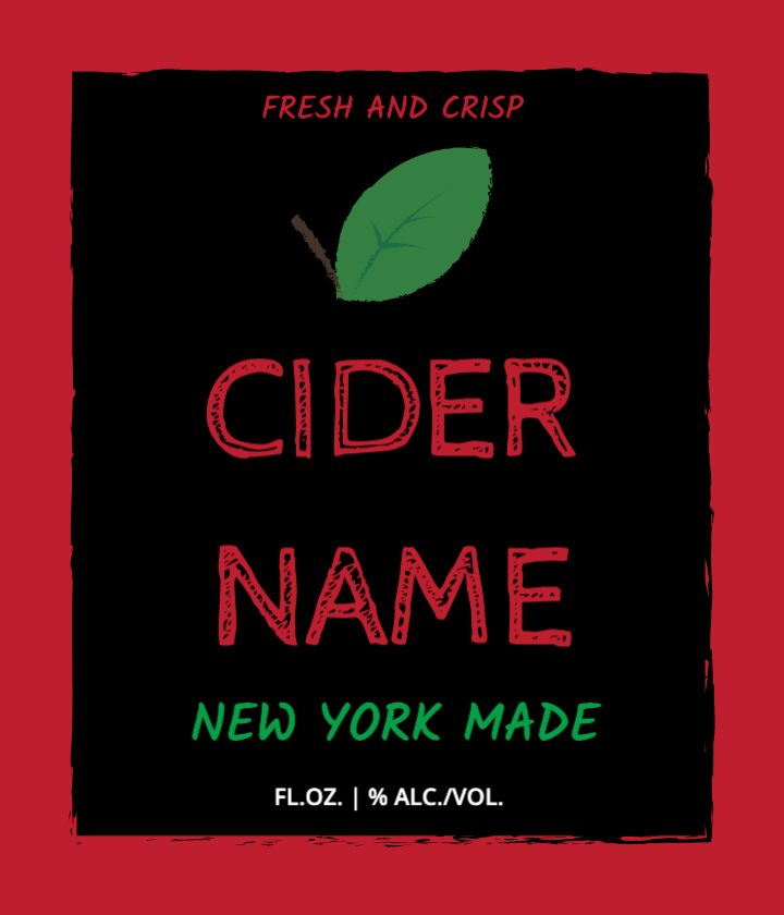 Hard Cider Label