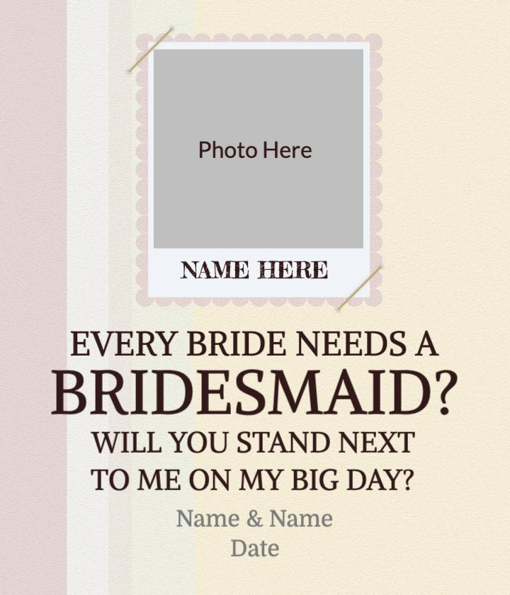 Scrapbook Bridesmaid