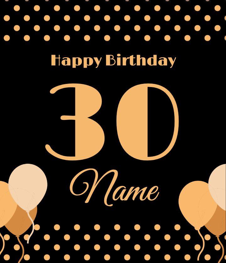 Black Polka Dot Birthday