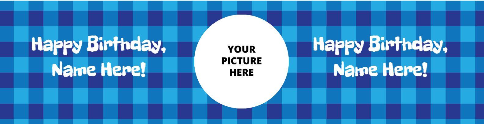 Blue Checker Birthday