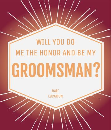 Groomsman Honor