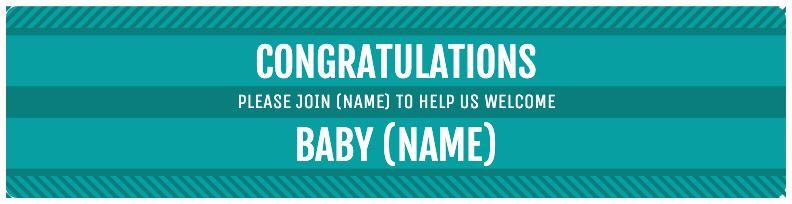 Congratulations Baby - Blue