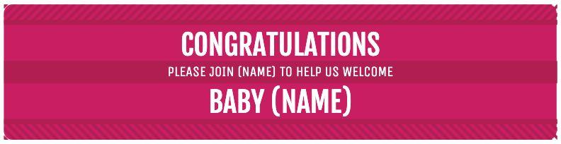 Congratulations Baby - Pink