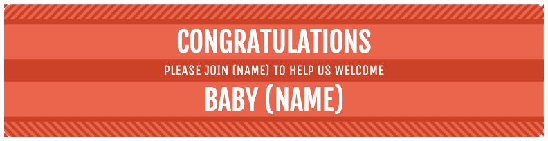 Congratulations Baby - Orange