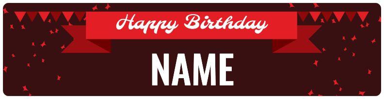 Birthday Banner - Red