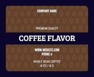 Coffee Bean Pattern - Pouch