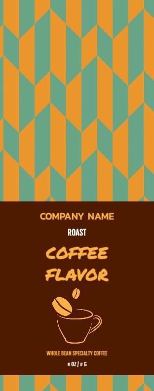 Orange Coffee Cup - Wrap