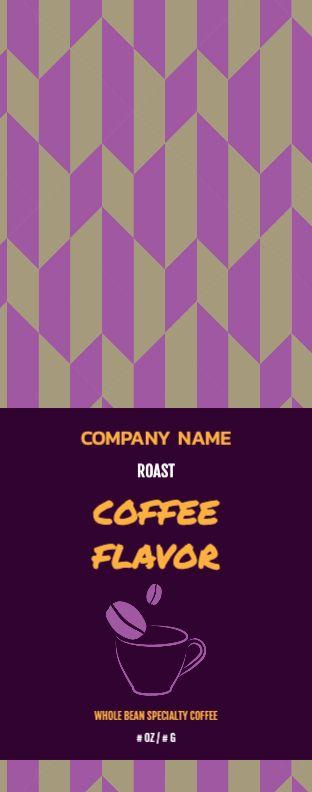 Purple Coffee Cup - Wrap