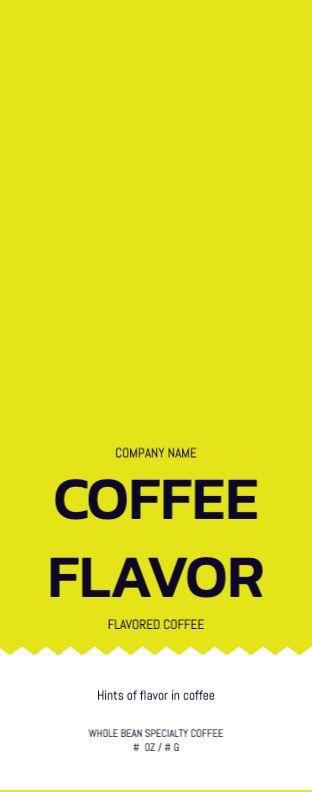 Yellow Ticket Label - Wrap