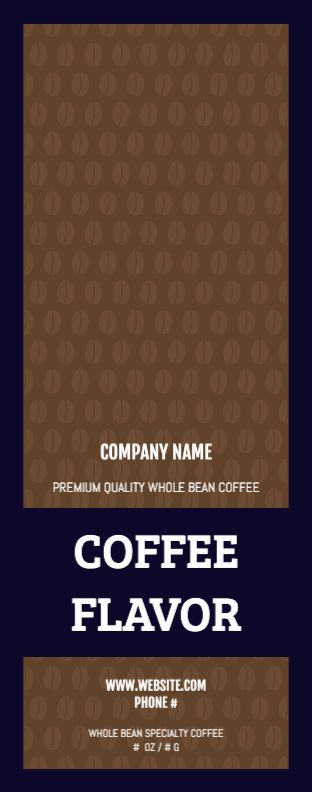 Coffee Bean Pattern - Wrap