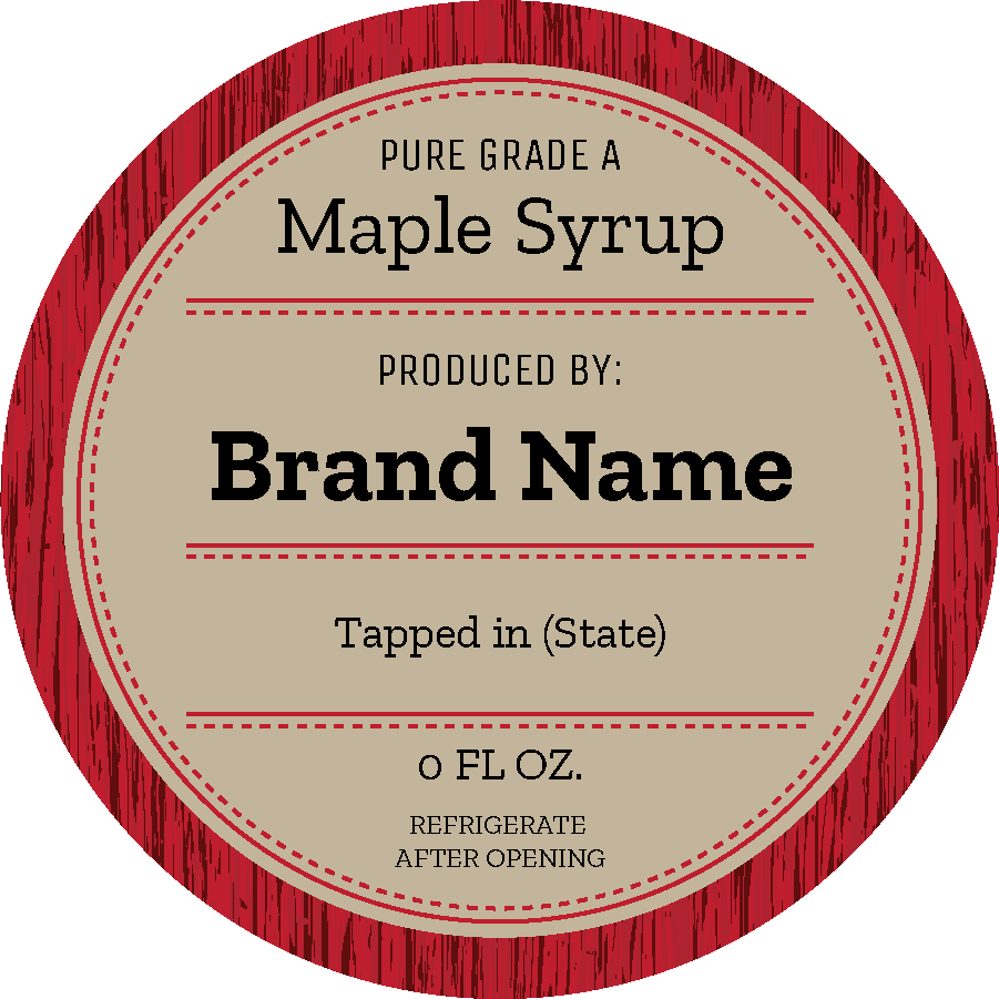 Red Wood Maple (Circle)