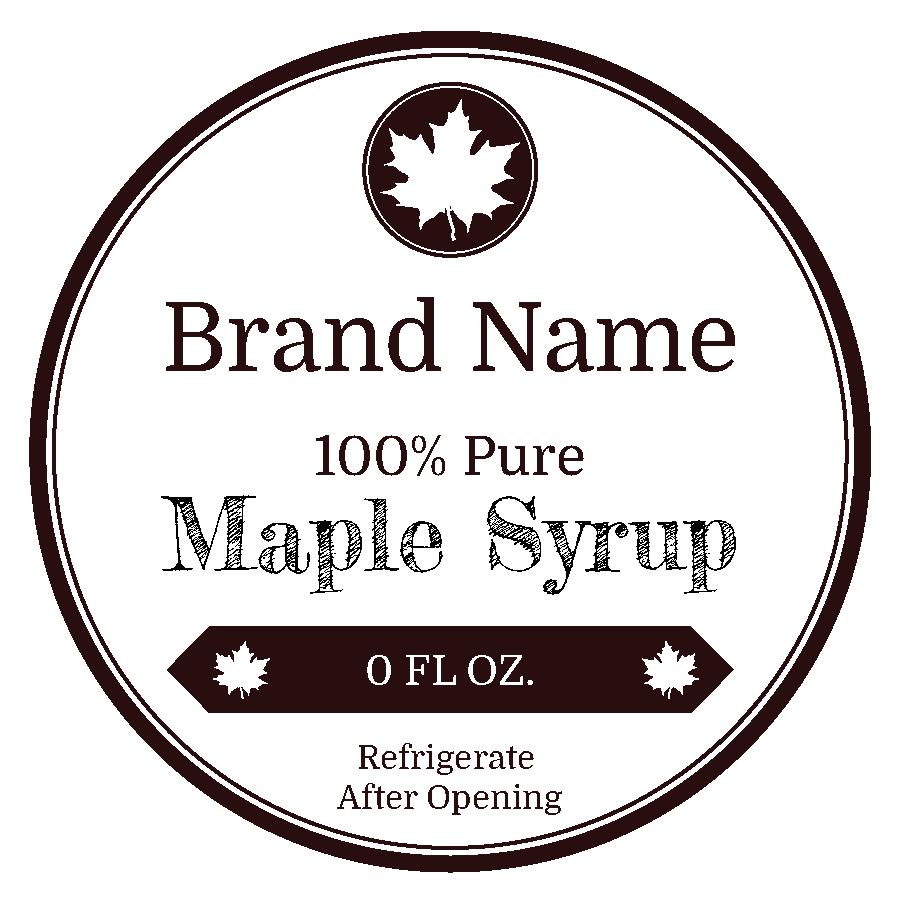 Black & White Maple (Circle)