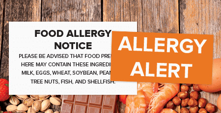 Printed Allergy Labels