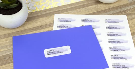 Blank Return Address Labels