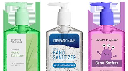 Custom Hand Sanitizer Labels