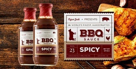 Printed BBQ Sauce Labels