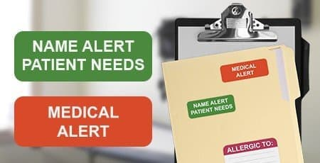 Printed Medical Chart Labels