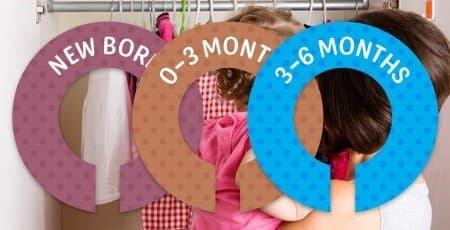 Printed Clothing Divider Labels