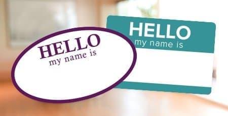 Printed Nametag Labels