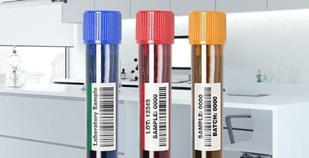 Printed Test Tube Labels