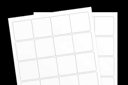 Removable White Uncoated (Inkjet or Laser)