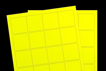 Fluorescent Yellow (Inkjet or Laser)