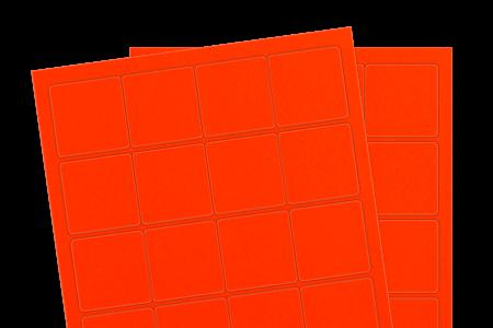 Fluorescent Red (Inkjet or Laser)