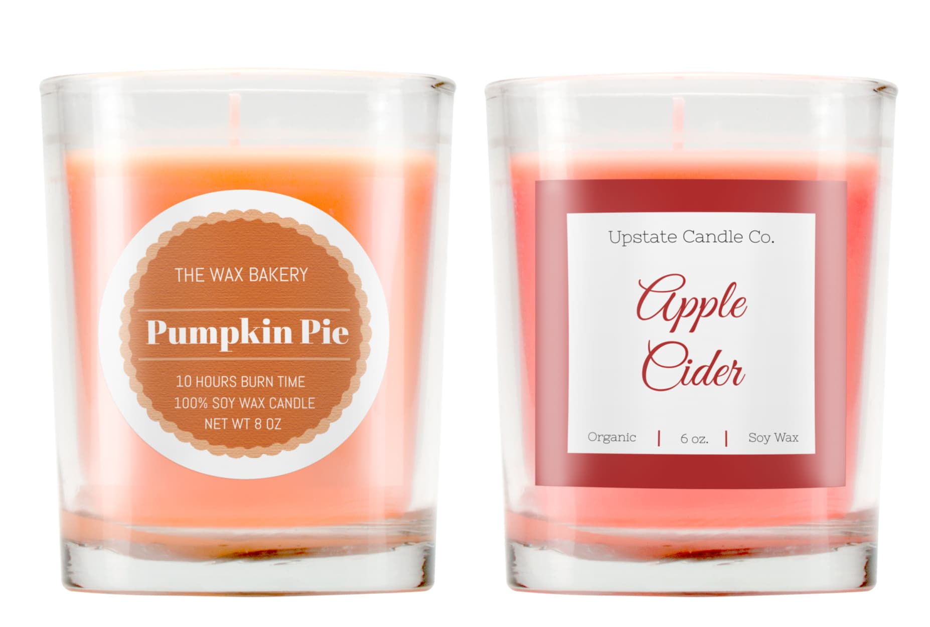 Fall scent candle labels