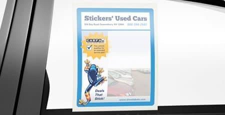 custom printed window stickers