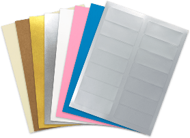 blank label sheet materials