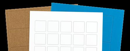 square labels