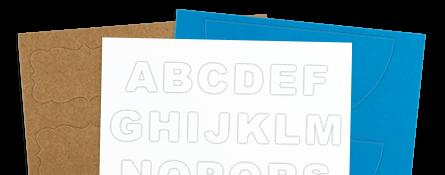 unique shape labels