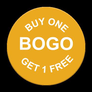 Buy One Get One Free BOGO Label