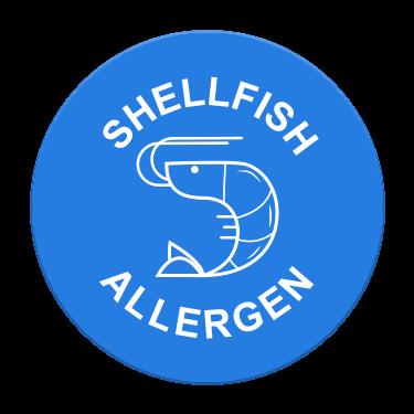 Shellfish Allergen Label