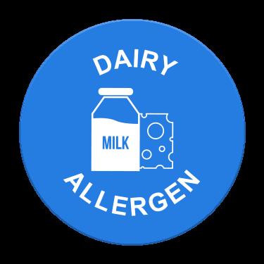 Dairy Allergen Label