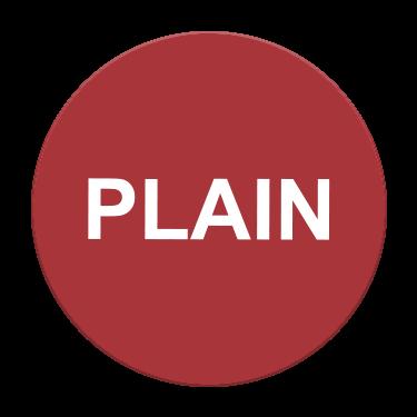 Plain Flavor Label